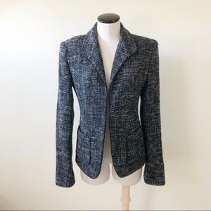 Lafayette 148 New York Black & White tweed blazer